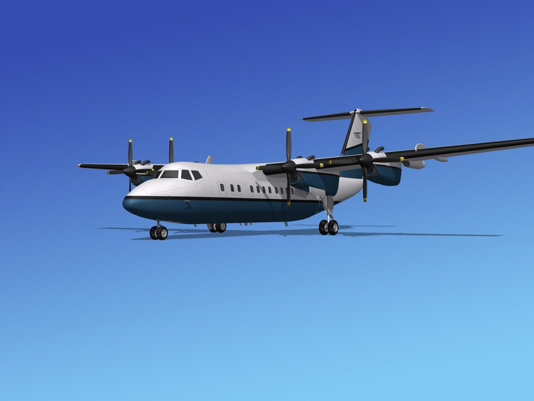 dhc-7-200 passenger freight 3d model