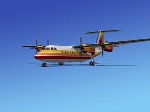 3d dhc-7-200 passenger freight model