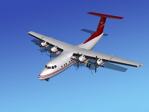 dhc-7-200 propellers passenger 3d max