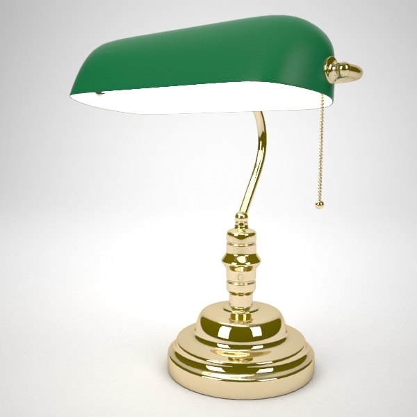 Exceptionnel Green Bankers Desk Lamp