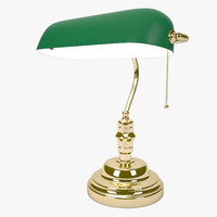 Green Bankers Desk Lamp