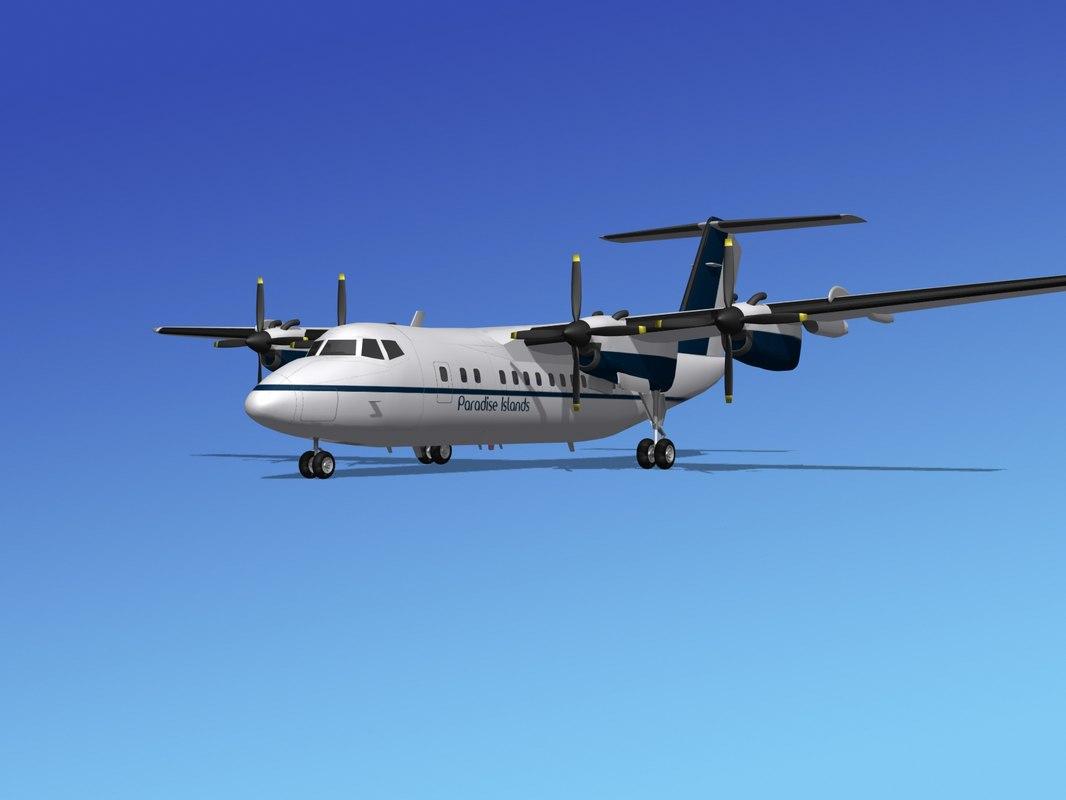 dhc-7-200 passenger freight 3d max