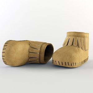 3d model baby boot