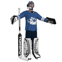 3d hockey goalie