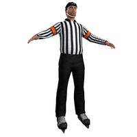 3d model of hockey referee