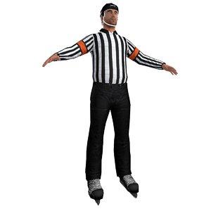 3d model of hockey referee