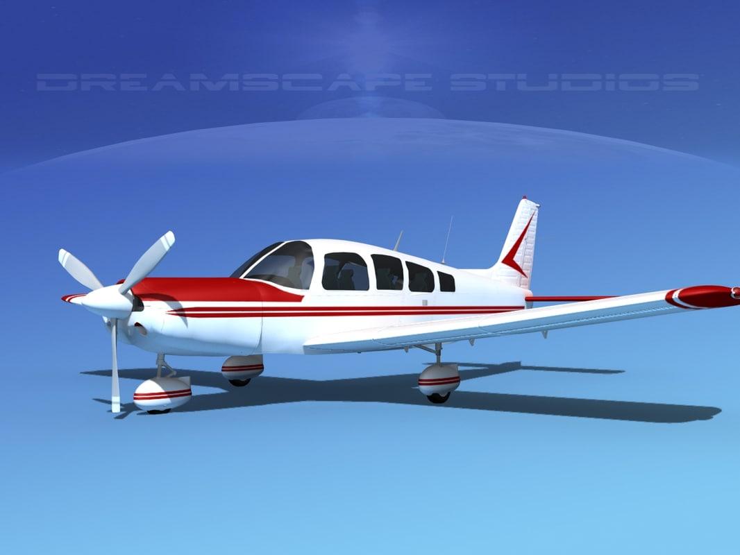 propeller piper cherokee 260 3d model