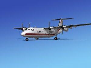 3d max dhc-7-200 passenger freight
