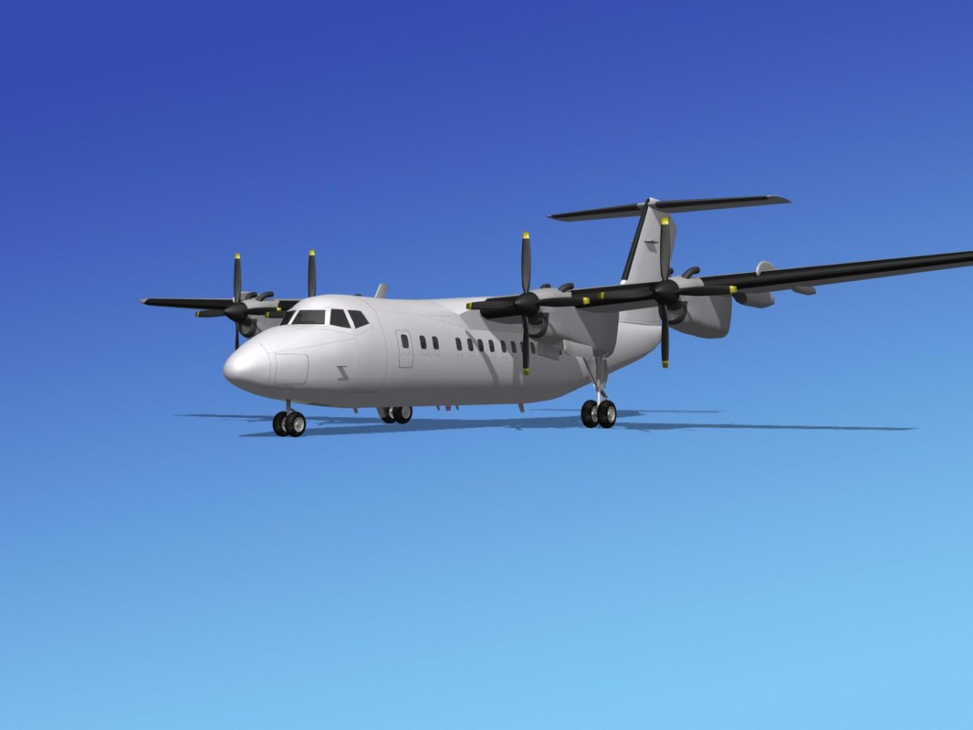 3d model of dhc-7-200 passenger freight