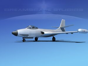 korean f2h banshee jet fighter 3d max