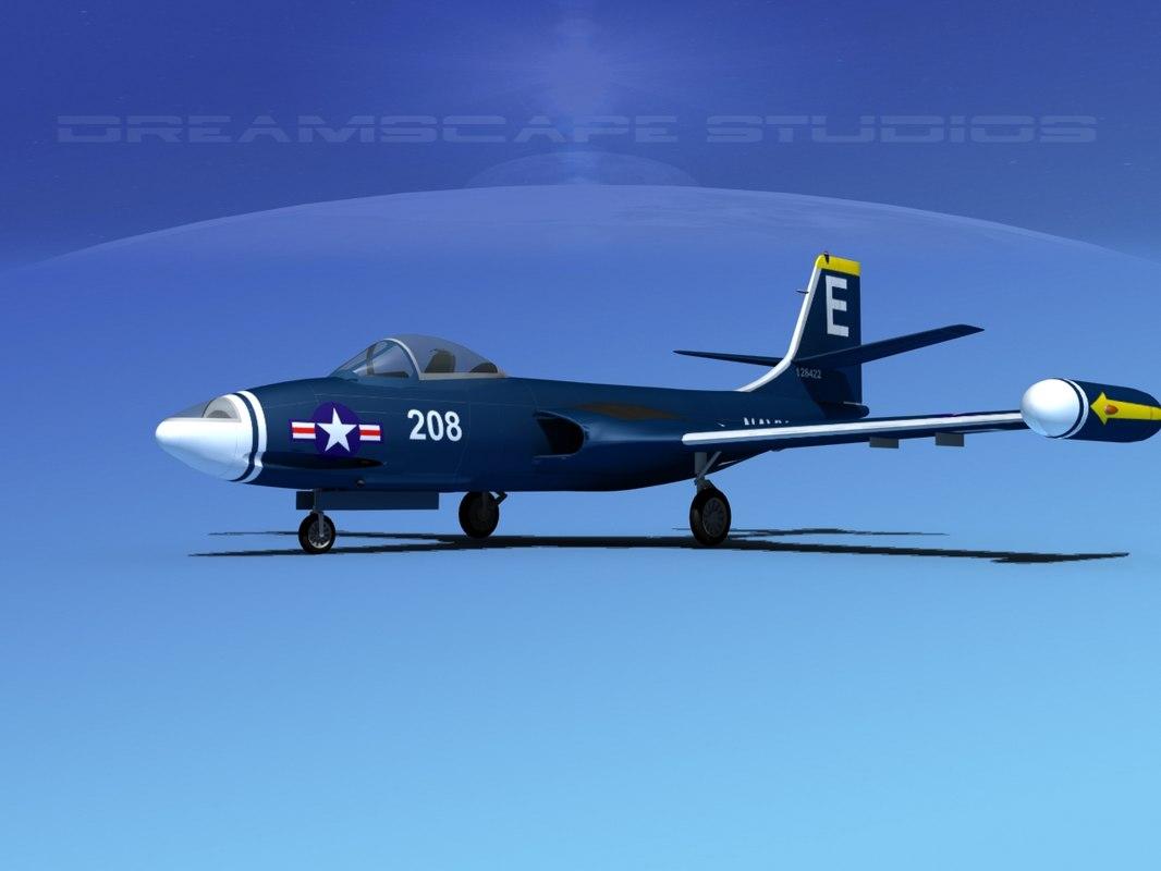 3d korean f2h banshee jet fighter