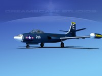 3d korean f2h banshee jet fighter