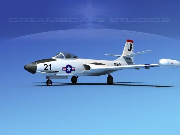 korean f2h banshee jet fighter max