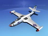 korean f2h banshee jet fighter 3d max