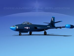 3d model korean f2h banshee jet fighter