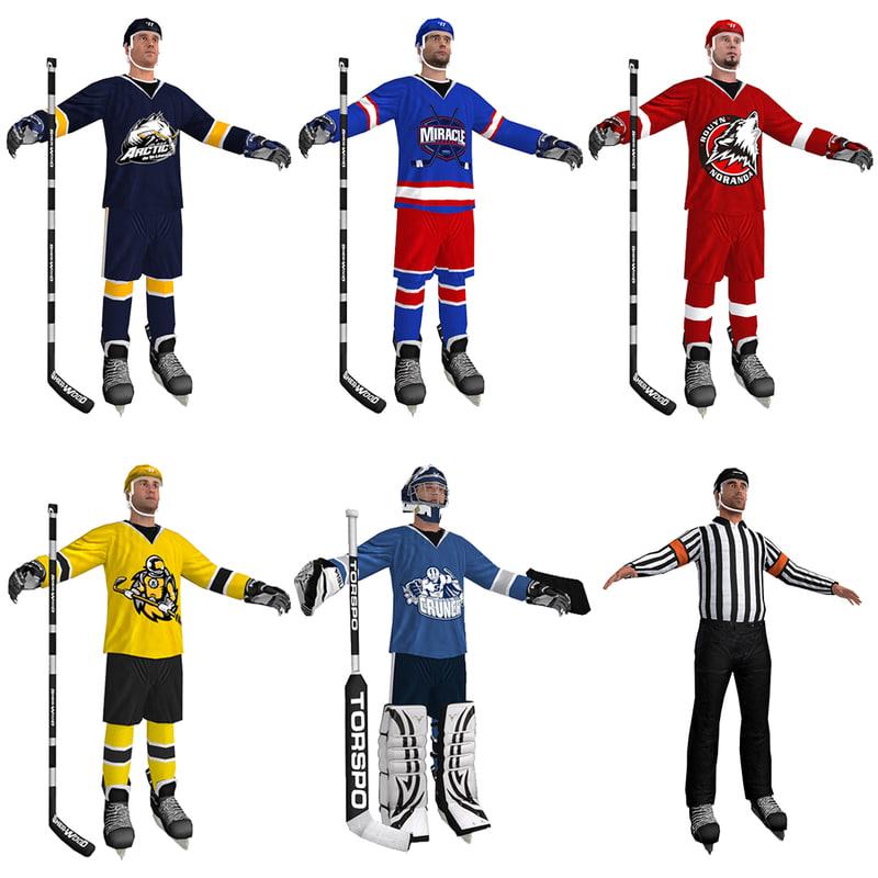 3d model pack hockey