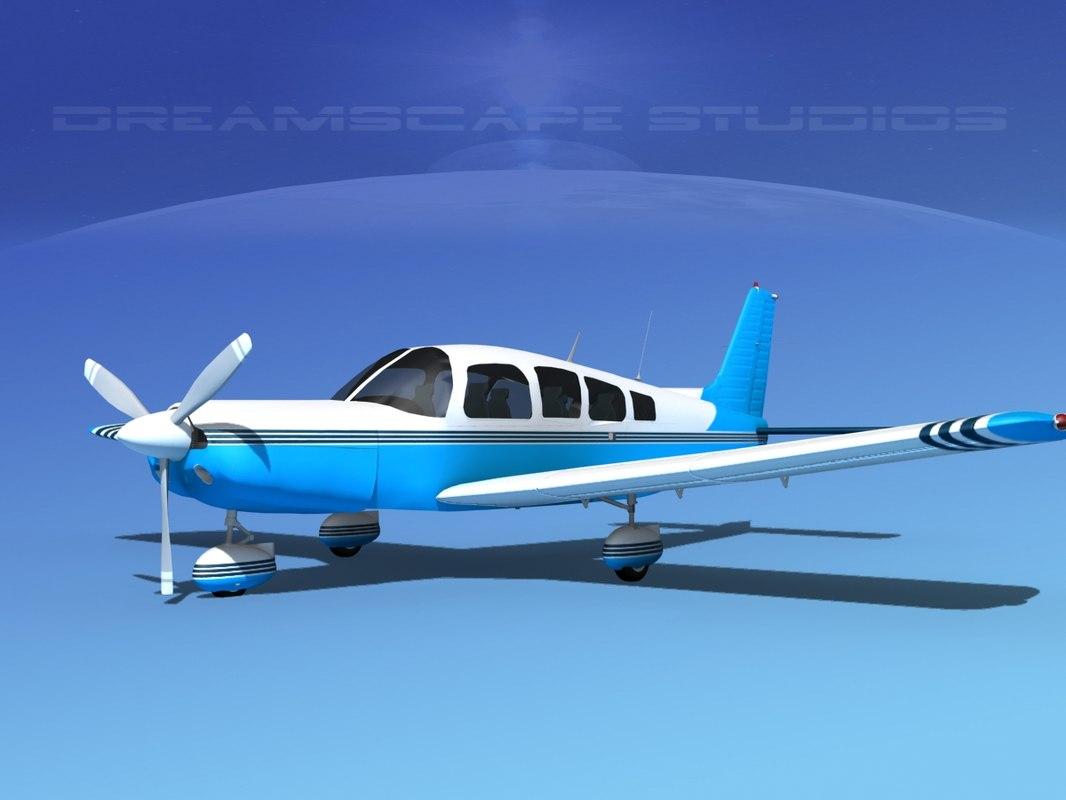 3d model of propeller piper cherokee 260