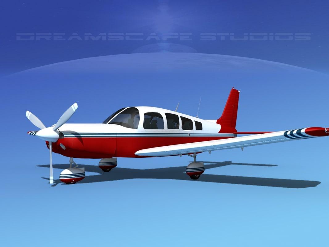 3d model propeller piper cherokee 260