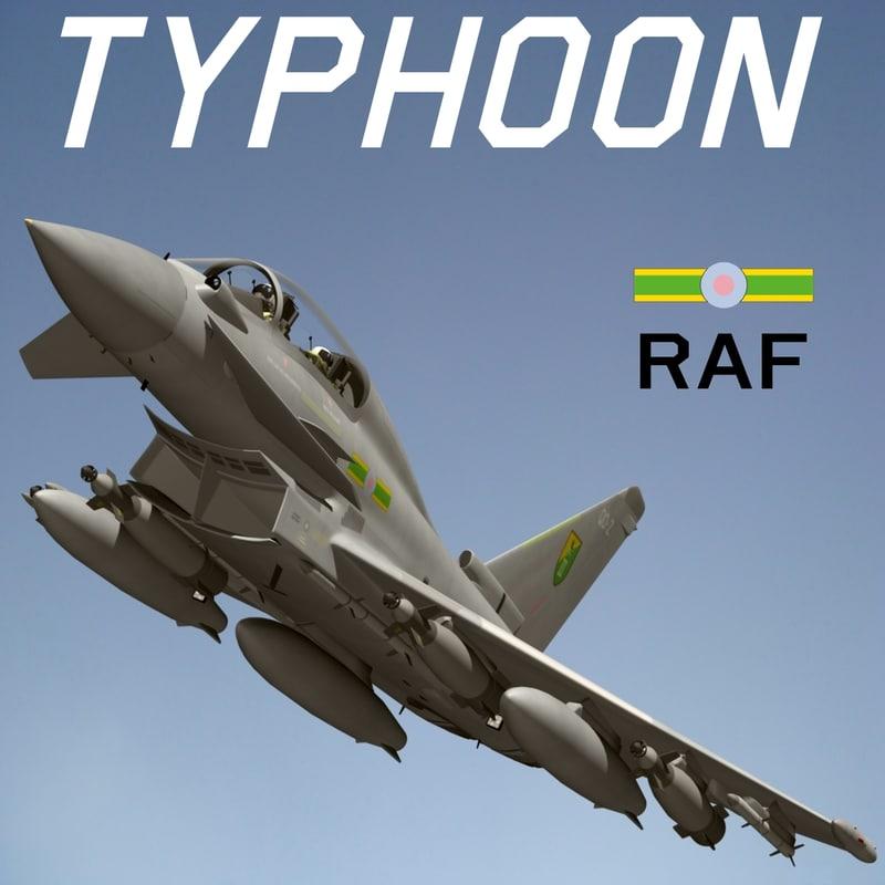 eurofighter typhoon raf 3d max