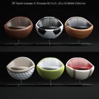 3d sports-lounges- -ottomans model