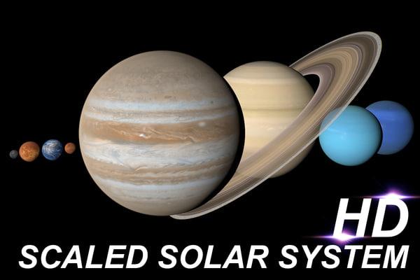 3d model solar scaled