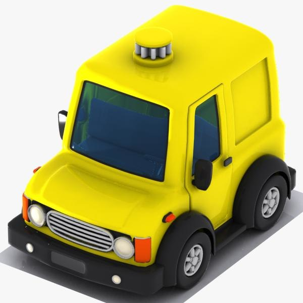 3d cartoon van car model