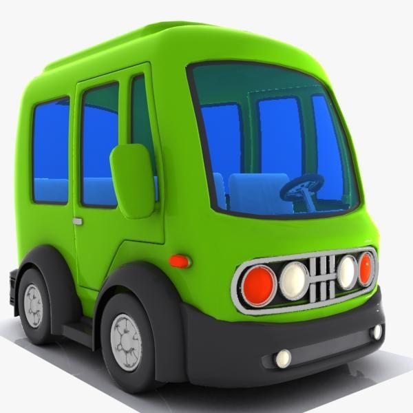 3ds cartoon minibus bus
