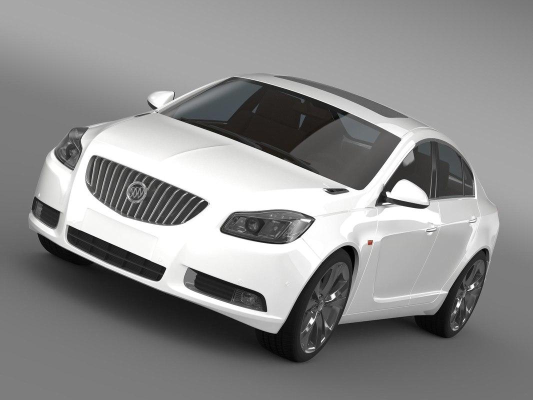 buick regal 2011-2013 3d model