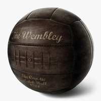 3d vintage soccer ball wembley