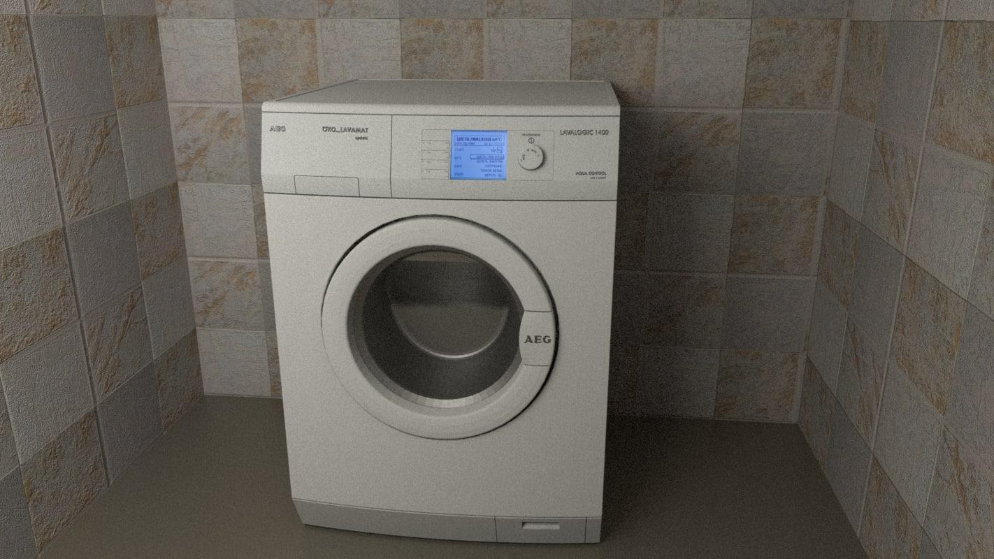 free 3ds model washer aeg