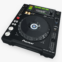 3d model digital player pioneer cdj