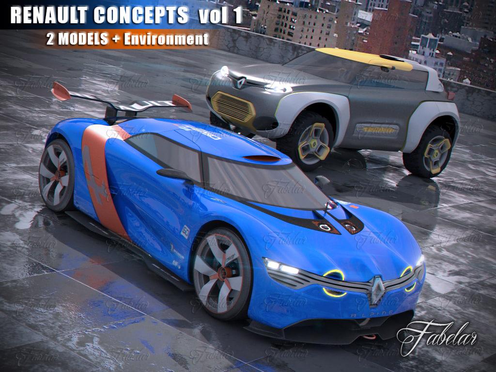 renault concepts vol 1 3d model