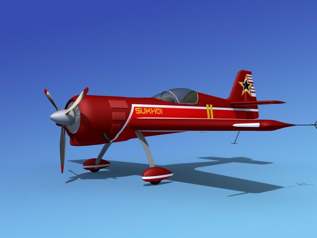 3d sukhoi su-26 aerobatics