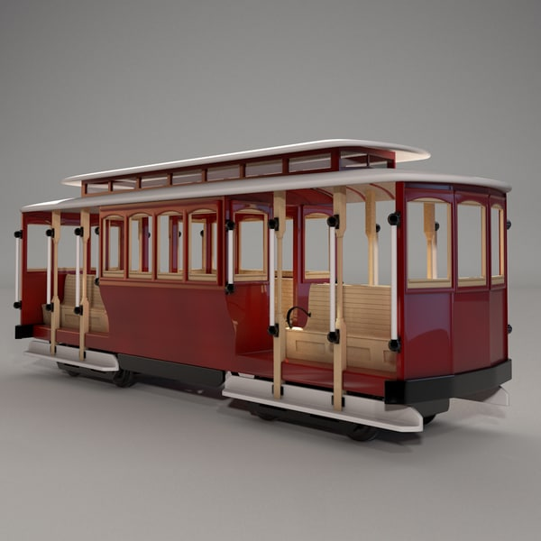 3d model of cable car