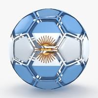 3d soccer ball