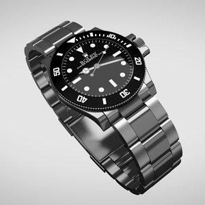 3d rolex watch