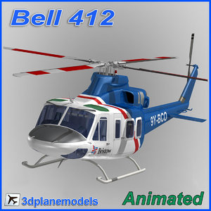dxf bell 412 helicopter animation