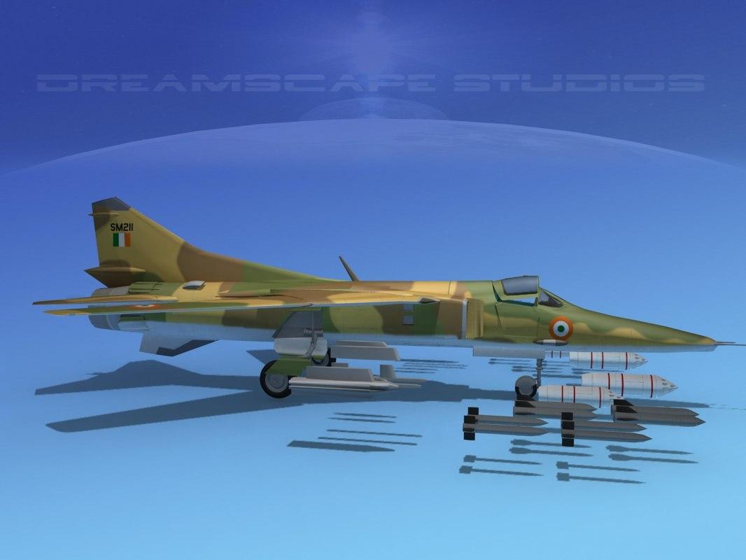 mig-27 flogger india 3d model