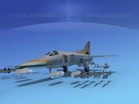 3d model mig-27 flogger india