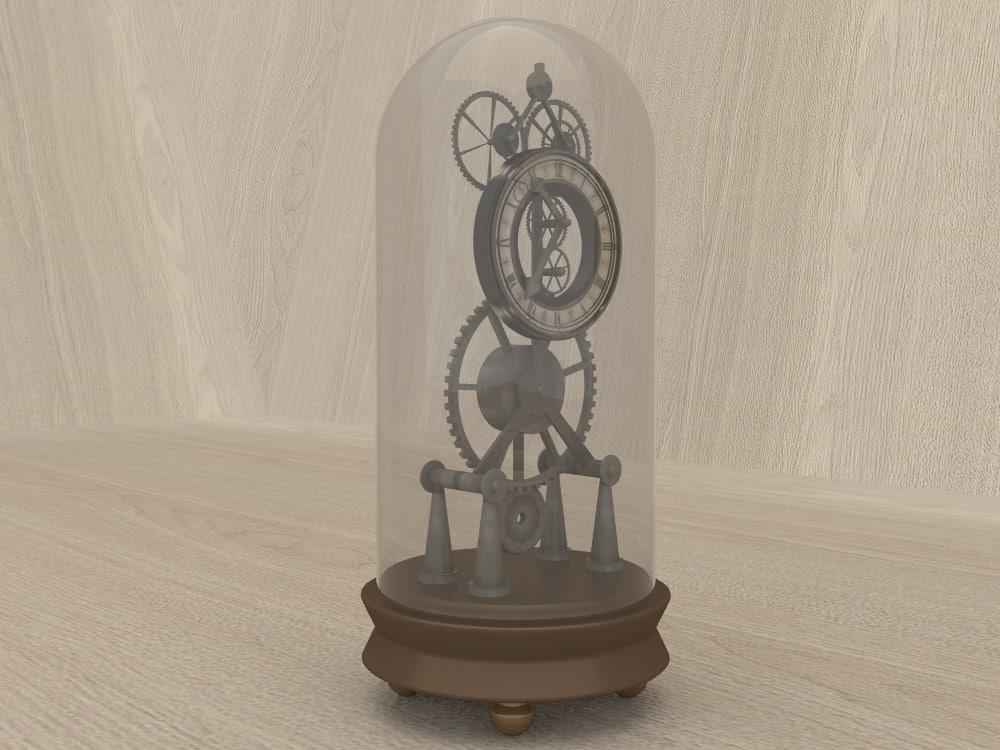 3d vintage clock