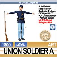 3dsmax civil war union soldier