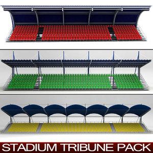 3d pack stadium seating tribunes