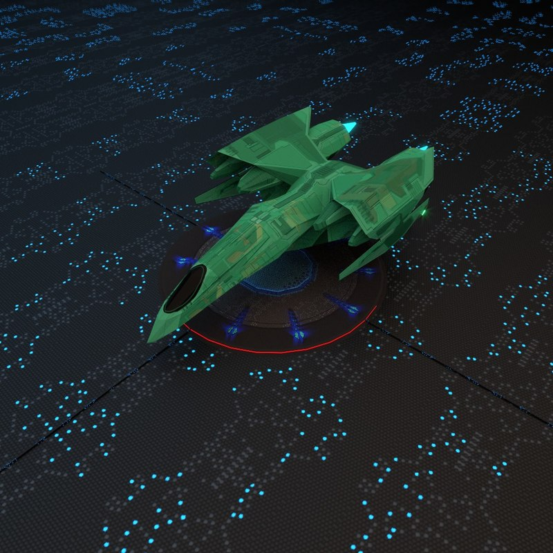 3ds max space spaceship