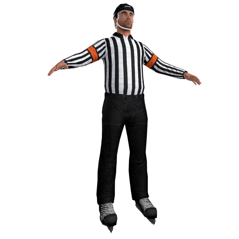hockey referee 3d max