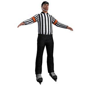 hockey referee 3d max