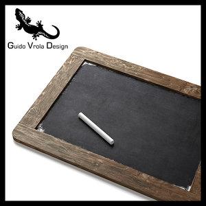 3d model black blackboard board