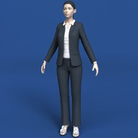3d model woman clothing eyes