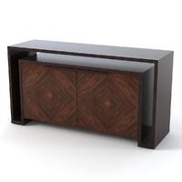 art deco cabinet 3d model