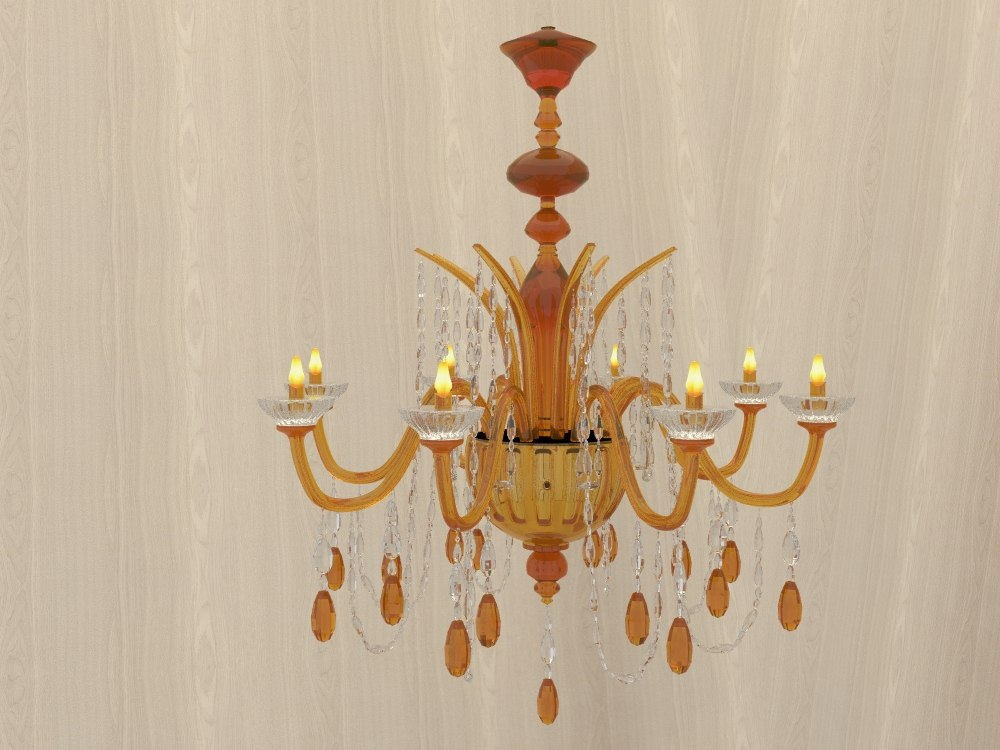 3d model orange chandelier