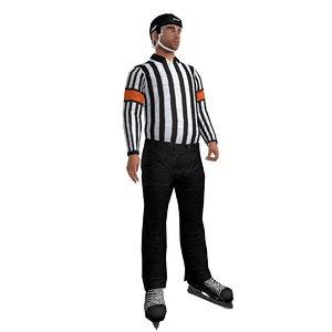 rigged hockey referee 3d max